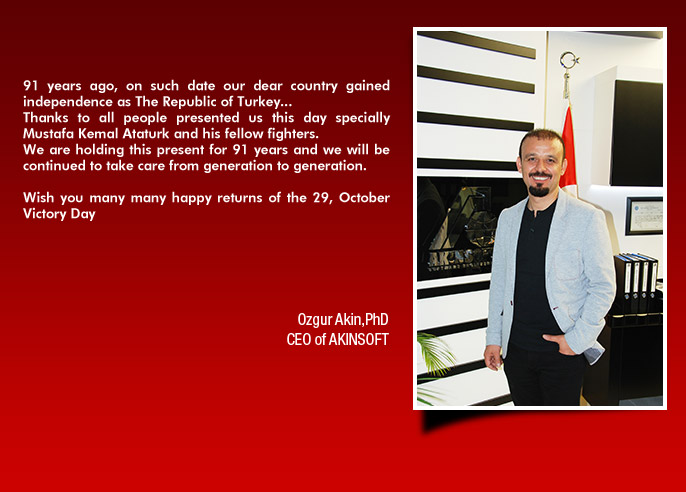Board Chairman of AKINSOFT Ozgur Akins Message for Victory Day