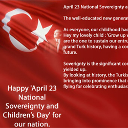 Board Chairman of AKINSOFT Ozgur AKINs Message for April 23 National Sovereignty and Childrens Day