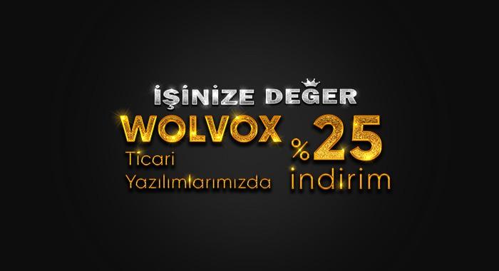 İşinize Değer WOLVOX'ta %25 İndirim