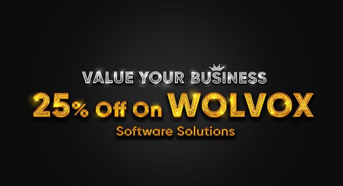 Value Your Business 25% Off On WOLVOX