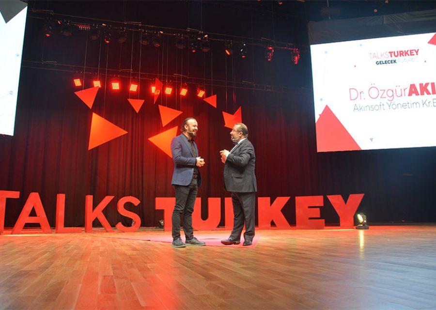 Ozgur Akin PhD the Chairman of AKINSOFTAKINROBOTICS in Talks Turkey Future Event - 12