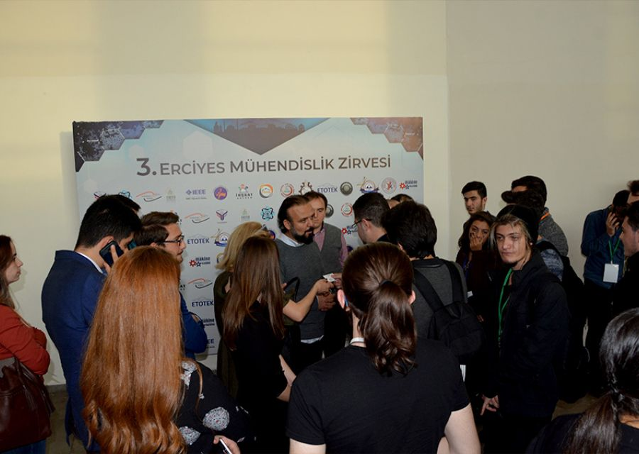 Ozgur AKIN PhD meets with the students of Erciyes University - 17