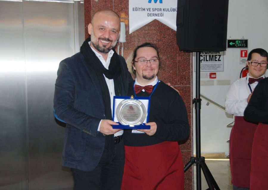 A thank you plaque from Gökçem Special Education and Sports Club Association Cafe  Bistro to Dr Özgür AKIN who is Chairman of the Board of AKINSOFT - 4